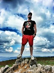 nienik | On top of the World (Toni Kaarttinen) Tags: travel boy summer mountain man mountains guy clouds beard rocks legs diesel top poland polska peak cap polen rooster shorts polonia pologne  polnia puola nienik
