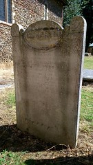 Moss headstone