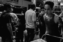 Through more crowds (zh3nya) Tags: street city urban hk hongkong crowd streetphotography rush kowloon density d3100