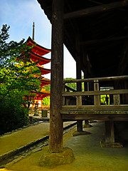 Toyokuni Shrine (Senjokaku) / Goju-no-to (tomosang R32m) Tags: japan canon island powershot hiroshima miyajima hdr itsukushima      senjokaku gojunoto  s120 toyokunishrine powershots120