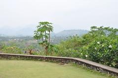 Nice view of the countryside from here (oldandsolo) Tags: southeastasia buddhism lp laos wat buddhisttemple luangprabang chedi buddhistshrine laopdr unescoworldheritagecity buddhistreligion buddhistfaith phrathatkhongsantichedi