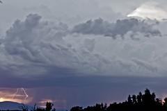 Sunset, Jemez Mountains, July 12, 2014 (Sacker Foto) Tags: storm clouds lens landscape lightning manualfocus ommount quantaray75200mmf2835macro