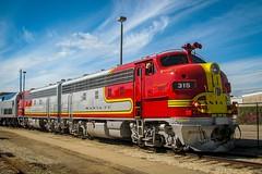 Warbonnets at GVRM (txrailfan) Tags: galveston santafe special passenger f7 warbonnet rpcx