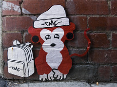 Malarkey tmc (J-C-M) Tags: street city urban streetart pasteup art wall monkey artwork nikon artist artistic character paste wheat australia melbourne wallart victoria inner d200 malarkey glenroy