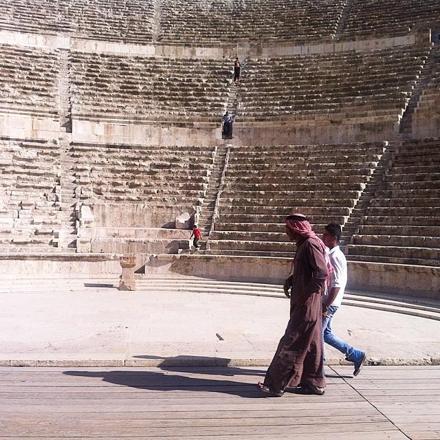 Giordania. Amman, il teatro romano.