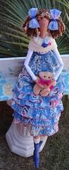 TILDA MOÇA FELIZ (gata arteira by cris) Tags: de bonecas pano boneca tilda decoração presentes tildas
