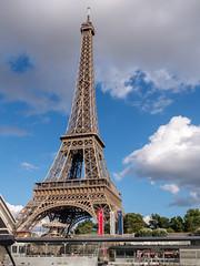 Torre Eiffel (Edgardo W. Olivera) Tags: city summer sky urban paris france tower art architecture clouds lumix europe eiffel panasonic gh3 microfourthirds edgardoolivera