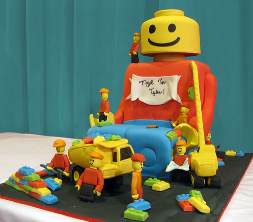 Lego Man Sculpted Cake