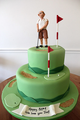 Golfer Course Birthday cake