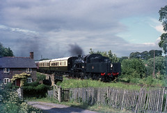 2MT 46443 arrives at Hampton Loade,SVR. May'70. (David Christie 14) Tags: severnvalleyrailway hamptonloade 2mt