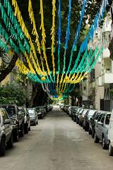 Brazil's World Cup - Decorated Street (Carlos Oki) Tags: world street brazil cup argentina brasil riodejaneiro fan belgium fifa soccer fans fest mundo copa futebol
