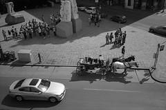 Juxtaposition (Franco & Lia) Tags: vienna wien street blackandwhite film analog austria nikon noiretblanc epson rodinal osterreich ilford fp4 biancoenero argentique albertina pellicola v500 r09 l35af2 stphotographia