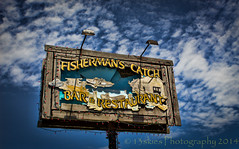 Fisherman's Catch, a sign of the times. (13skies) Tags: trip food fish look sign out restaurant high eat sit takeout take catch portdover fisheman