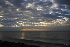 IMG_6508wm (mallikagurnani) Tags: travel sea india reflection water sunrise boat rays pondicherry sigma1770mm canon7d