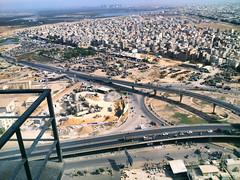 View From The Toppest Point Of Karachi (cellphone capture) (AKA salmanlp) Tags: bridge building bird eye rooftop point view center karachi korangi topest