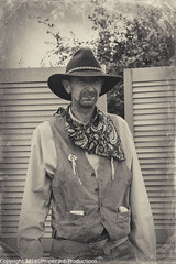 Posing Gunman (Proper Job Productions) Tags: recreation campout wildwest gunman westerners recreationists 1stnational neowesterners