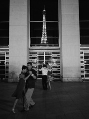 Near Midnight in Paris (Semi-detached) Tags: city boy urban music paris france sexy tower girl night dark french darkness dancing eiffel tango midnight latin tune trocadero