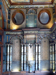 Lloyds Bank, The Strand, London (mira66) Tags: england london faience strand ceramic bank lobby tiles column twisted lloyds