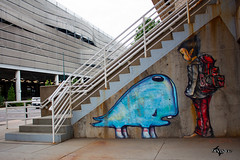 Under The Stairs (DivisionPhoto) Tags: streetart art canon painting graffiti colorado denver talent davidchoe 500d t1i