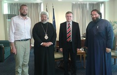 Συνάντηση ΥΦΥΠΕΞ Κυρ. Γεροντόπουλου με Μητροπολίτη Ισπανίας και Πορτογαλίας κ.Πολύκαρπο