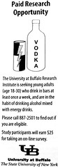 Paid research opportunity for students who drink energy drinks mixed with alcohol (Will S.) Tags: usa zine ny newyork america buffalo ad research suny mypics