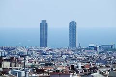 fame (magicmoment.z) Tags: barcelona travel blue sea sky house building coast high spain zoom rich poor tele fujifilm tall fujinon 55200mm xe1