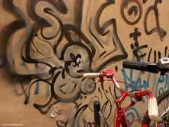 Bologna al volo (giovannimagnanini) Tags: street muro art bicycle wall graffiti strada arte bologna di bici townscape colori strade giovanni citt bicicletta magnanini