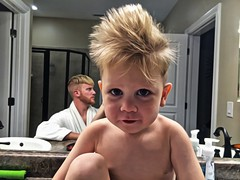 When @caitonia is away, the men of the house tend to do more important things... like discovering new types of manliness involving hairstyles. #dadlife #handsomedevil #likefatherlikeson (SP4RTACU5) Tags: likefatherlikeson handsomedevil dadlife