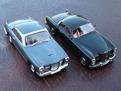 Facel-Metallon Coupe (1951) on Bentley Mk.VI Chassis (model by Matrix) &  Facel Vega FV1 (1955) by Ixo/Altaya/Partworks (andreboeni) Tags: auto classic cars car french miniatures miniature model models voiture retro oldtimer british vega coupe bentley francais automobili 143 classique mkvi modellauto facel facelvega fv1 facelmetallon