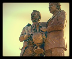 Brian Clough and Peter Taylor Statue at Pride Park (Tony Worrall) Tags: england art sports statue bronze football memorial icons north statues made publicart sporting derby sculptue brianclough pridepark petertaylor sportingstatues footballstatues ©2014tonyworrall