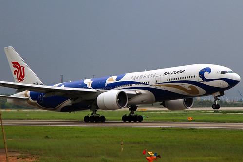 B-2059 | Air China | Boeing 777-2J6 | Blue Phoenix Livery | CAN