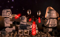 hold on buddy, help will come (Wanz Oranje) Tags: toys starwars lego stormtrooper minifigures legography