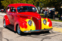 Flamed 1937 Ford Hot Rod