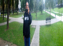 Selfie made on funny mirror (mares816) Tags: zeiss portraits mirror funny parks belgrade selfie sonynex planar3218touit