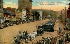 Reading Fire Department, Labor Day Parade, Reading, Pennsylvania (Alan Mays) Tags: old reading pennsylvania antique parades ephemera pa postcards laborday berkscounty vintange firecompanies
