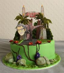 Birthday cake (Seahorse Art Studio) Tags: birthday cake dinosaur chocolate trex jurassicpark jeffgoldblum fondant