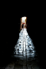 Darkness and Light (SJGPhotography) Tags: old light holiday reflection dark town sailing path low croatia tunnel split cobbles adriatic 2014