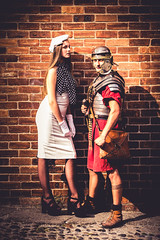 Roman Experience (Fairy_Nuff (new website - piczology.com!)) Tags: brick hat wall soldier model mckay roman helmet chester cobbles armour centurion livv welshot