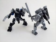 Unit 02/03 (funnystuffs) Tags: metal robot lego full panic custom aegis mecha durandal mech funnystuffs durendal carnwennan