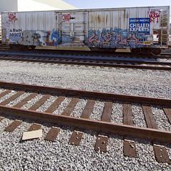 BATLE . BLOCH (TRUE 2 DEATH) Tags: railroad train graffiti tag graf trains railcar spraypaint boxcar railways railfan freight ese reefer freighttrain rollingstock chilledexpress armn batle bloch 663k benching freighttraingraffiti pentaxk3 batleforever