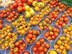 Tomatoes (Dai Lygad) Tags: uk greatbritain red orange color colour colors wales photography photo flickr colours image farmersmarket farmers market unitedkingdom britain tomatoes stock cymru cardiff picture stall tomates photograph caerdydd creativecommons farmer tomate stockphoto healthyeating flickrstock  pechakucha freeimage  riversidefarmersmarket  jeremysegrott dailygad amara fnji am