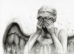 Weeping Angel Doctor Who Art - Watercolor (olechka_wa) Tags: art illustration angel watercolor painting fan who doctor doctorwho scifi drwho weeping doctorwhoart olechkadesign weepingangelart