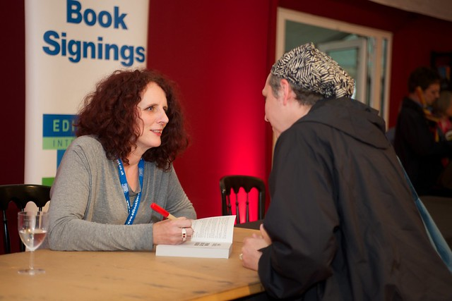 Maggie O'Farrell signs copies of her book