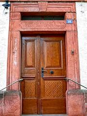 Tr 307 (baer99) Tags: door wood stone germany lumix holz sandstein tr hdr dmcfz30