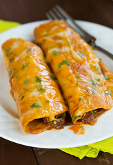 Cheesy Beef Enchiladas (Brown Eyed Baker) Tags: food recipe mexican