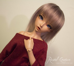 New Faceup (rustedcouture) Tags: face up ball doll tan moe bjd darjeeling celine jointed faceup minifee