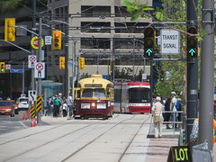Something old, something new (Sean_Marshall) Tags: toronto ontario waterfront ttc harbourfront streetcar pcc queensquay