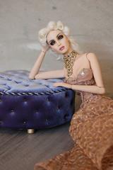 "Round pouf 1:4 ""Royal Blue"" (JuliaGart) Tags: furniture furniturefordolls fs furnitureforthesybarite for numina kd pouf julia juliagart gartung avalon pandora superfrock"