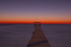 _40A7055 (ChefeGrande) Tags: texas rockport fulton twilightdawn woodpier fishingpier orange seashore seaside sea outdoor coastal water bay aransasbay gulfofmexico gulfcoast southtexas sunrise