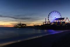 Savouring Santa Monica.jpg (remiklitsch) Tags: sunset santamonica pier longexposure blue nikon remiklitsch sand sea mare beach evening march ferriswheel amusementpark ocean pacific red